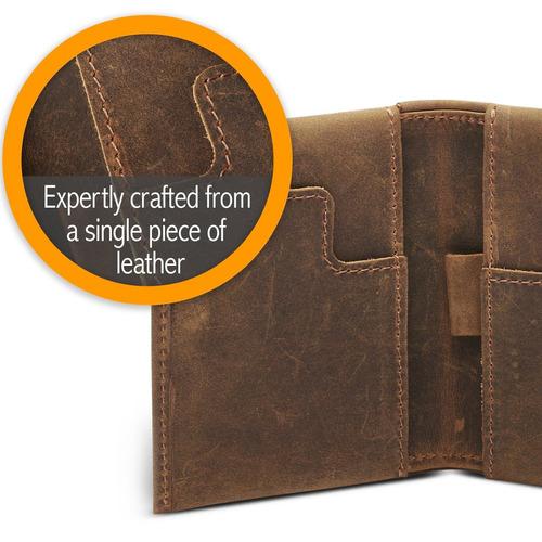 billetera de cuero delgada para hombres - minimalista billet