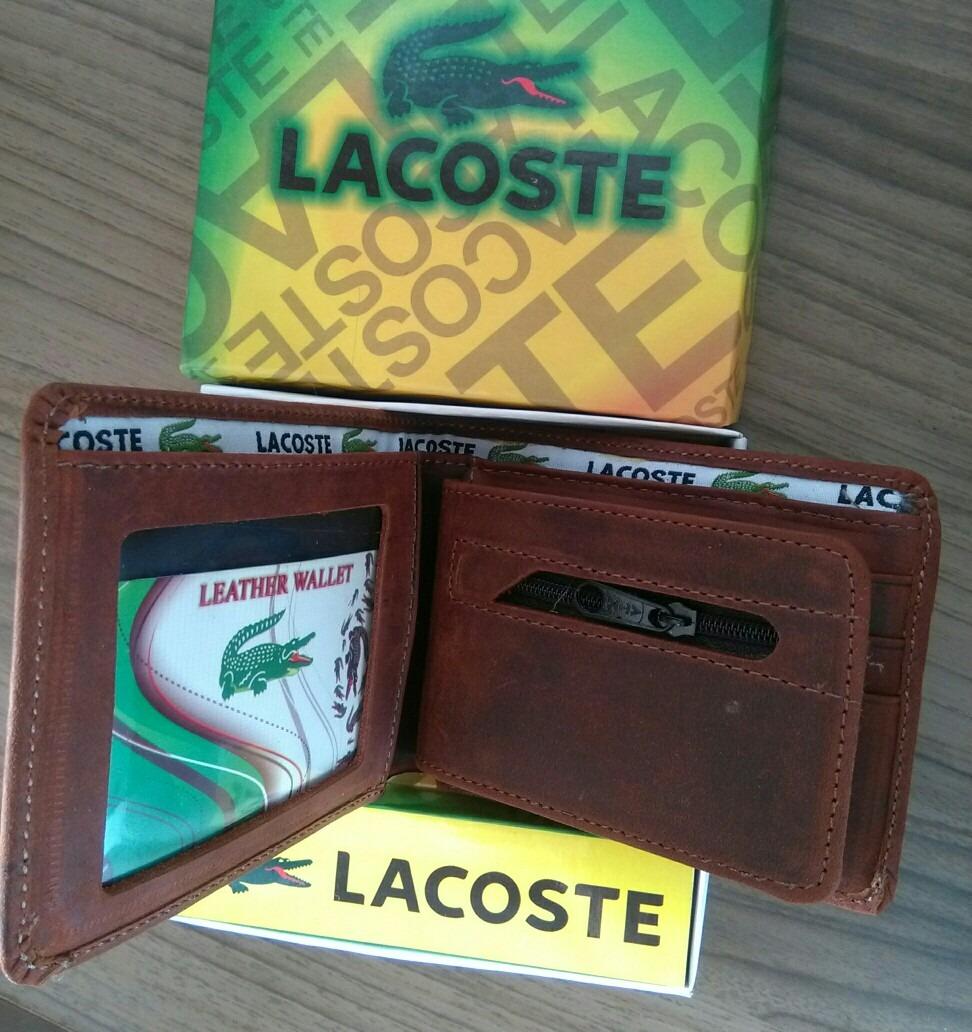b3c24f041 Billetera De Cuero Lacoste Cocodrilo Nuevo - S/ 45,00 en Mercado Libre