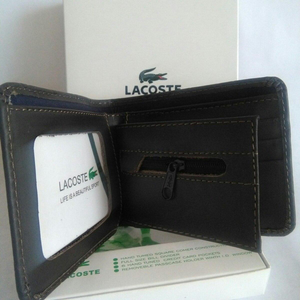 fe08b82e6 Billetera De Cuero Lacoste Nuevo - S/ 49,00 en Mercado Libre