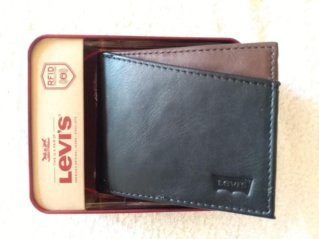 b581a7df9 Billetera De Cuero Levis Negra Y Marron. Original En Caja - $ 1.250 ...