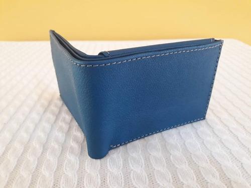 billetera de cuero para caballero