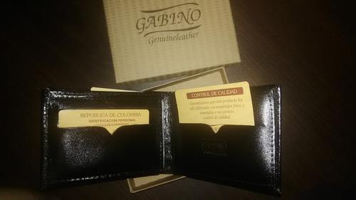 billetera de cuero para caballero marca gabino