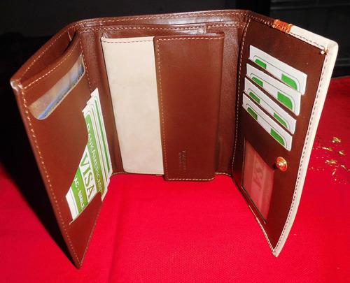 billetera de cuero para dama gp&max original