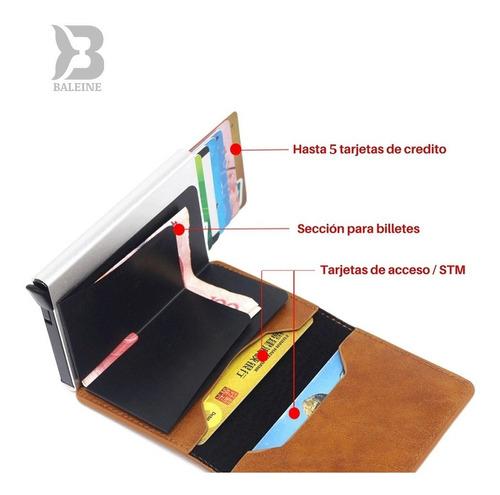billetera de cuero - para tarjetas de crédito y débito