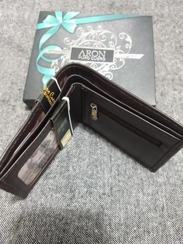 billetera de hombre aron 100 % cuerosan valentín