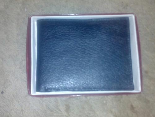 billetera de hombre de cuero