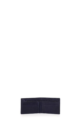 billetera de hombre lazaro con clip cuero azul