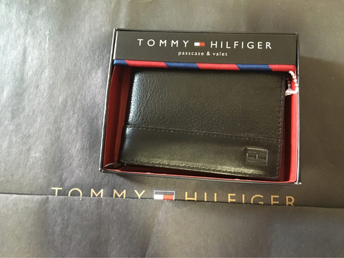 billetera de hombre tommy hilfiger color negra.