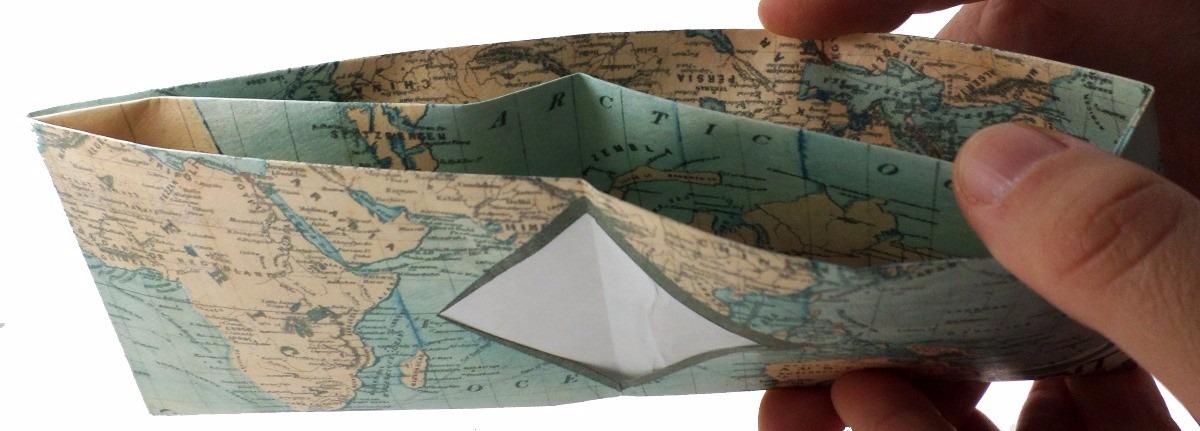 c3a11659f Billetera De Papel Tyvek Ecológica Modelo Mapa - $ 99,89 en Mercado ...