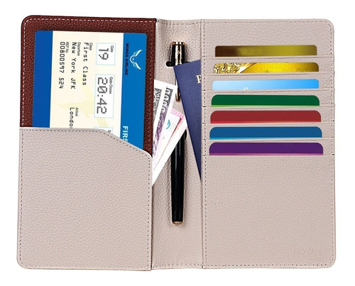 billetera de viaje- billetera de pasaporte