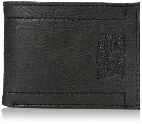 billetera extra capacity slim de levi's para hombre con logo