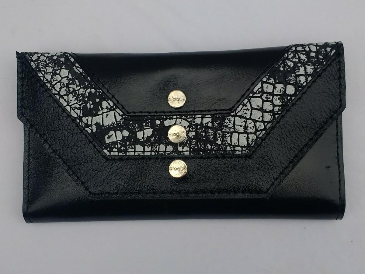b05f08389 Billetera Fichero Blaque Cuero Negro - $ 1.300,00 en Mercado Libre