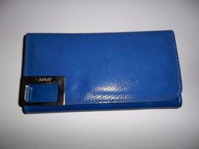 5e8627cc Billetera Cuero Mujer Combinada Art 1865. Marca Clau's · Billetera Fichero  Cuero Azul Marca Candy - Nueva En Su Caja