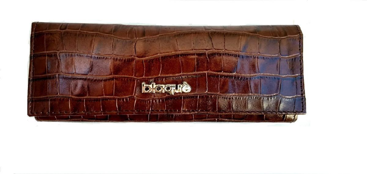 0c89221de Billetera Fichero Cuero Blaque By Ibbags - $ 2.099,00 en Mercado Libre