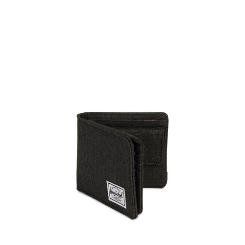 billetera herschel supply hans coin xl rfid black crosshatch