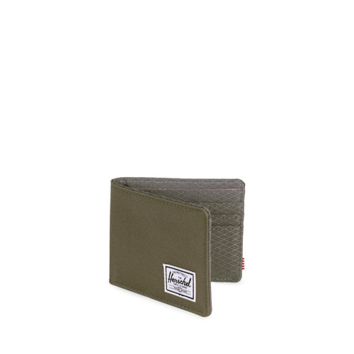 billetera herschel supply roy rfid ivy green/smoked pearl