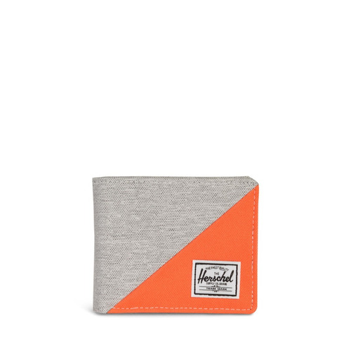 billetera herschel supply roy rfid light grey crosshatch/ver