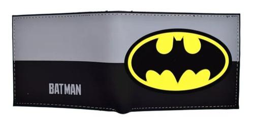 billetera hombre batman superheroe original bioworl cuero pu