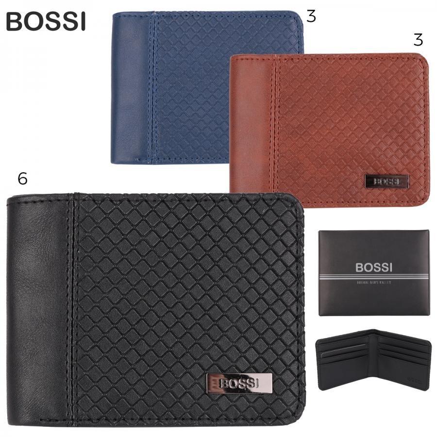 5249e05ab4a billetera hombre bossi cuero pu 100% original color azul. Cargando zoom.