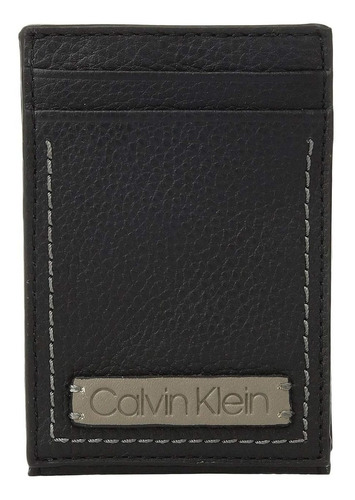 billetera hombre calvin klein card case w/ id window