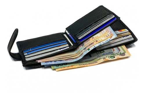 billetera hombre cuero capacidad para 15 tarjetas pesos dolares euros porta documentos tarjetero modelo 0914