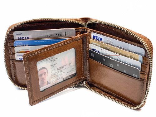 billetera hombre cuero con cierre tarjetero fabricantes