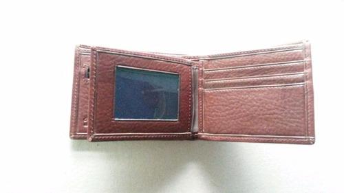 billetera hombre cuero monedero volante 461 guns leather