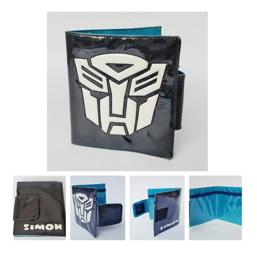 billetera infantil transformers regalo cotillon para niños