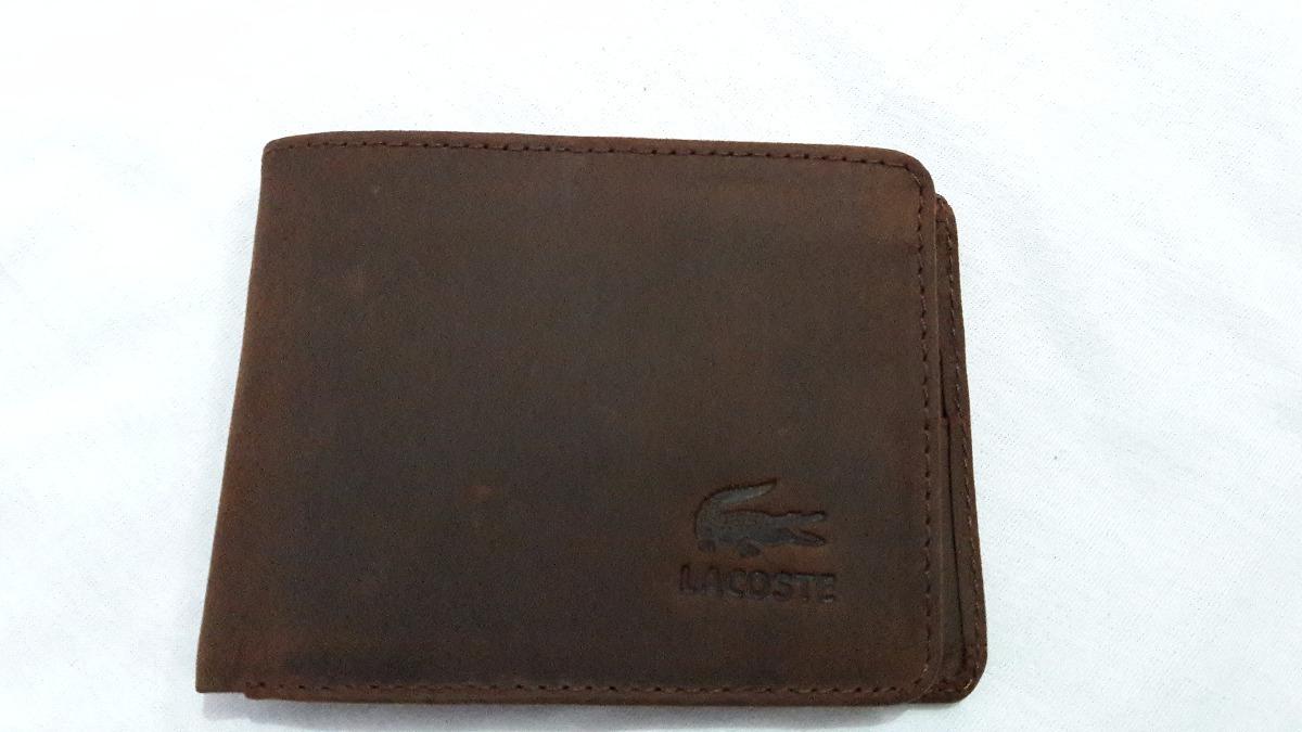 f84057825 Billetera Lacoste Hombre Cuero Gamuzado - S/ 50,00 en Mercado Libre