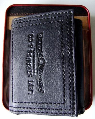 billetera levi's 100% cuero original nueva liquidación