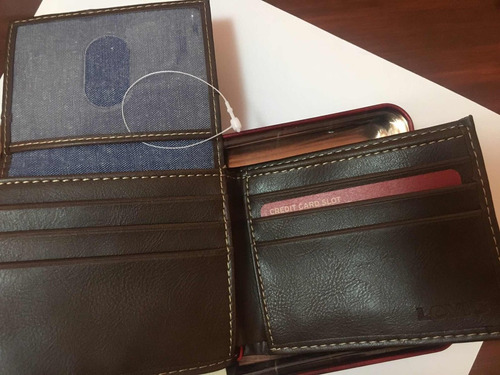 billetera levis cuero tecnologia rfid proteccion a tarjetas