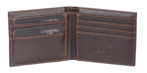 billetera lsyd de cuero marrón excelente estuche para regalo