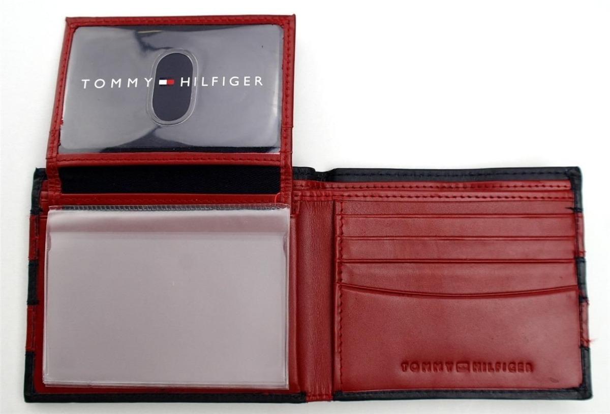comprar online a0821 9155f Billetera Marca Tommy Hilfiger Para Caballero Roja Con Linea