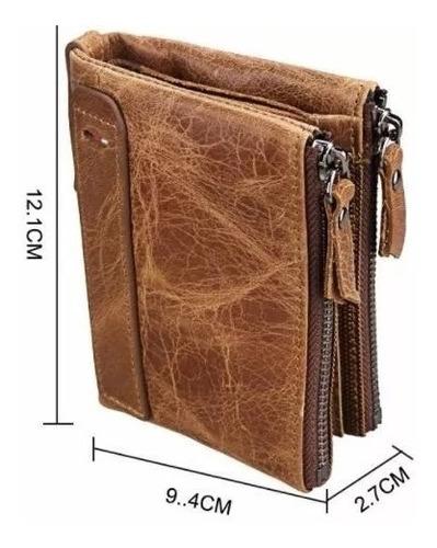 billetera monedero hombre 100% cuero tarjeta mejor calidad
