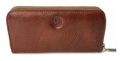 billetera mujer cuero con cierre monedero tarjetero fichero porta documentos modelo 0084