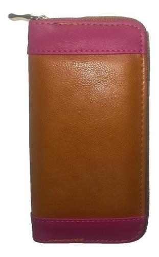 billetera mujer simple con cierre combinada
