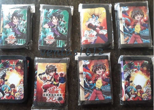 billetera niño bakugan cartera porta tarjeta cierre magico