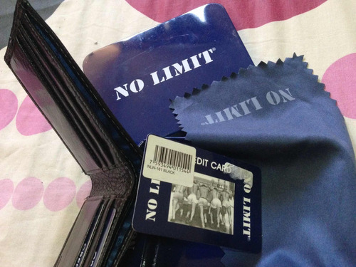 billetera no limit original, cuero negro