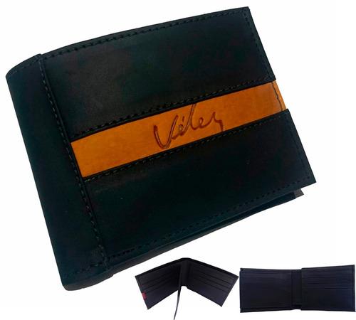 billetera para caballero en cuero 100% genuino
