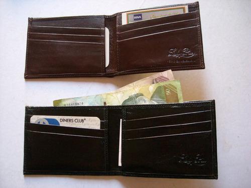 billetera para caballero en puro cuero.