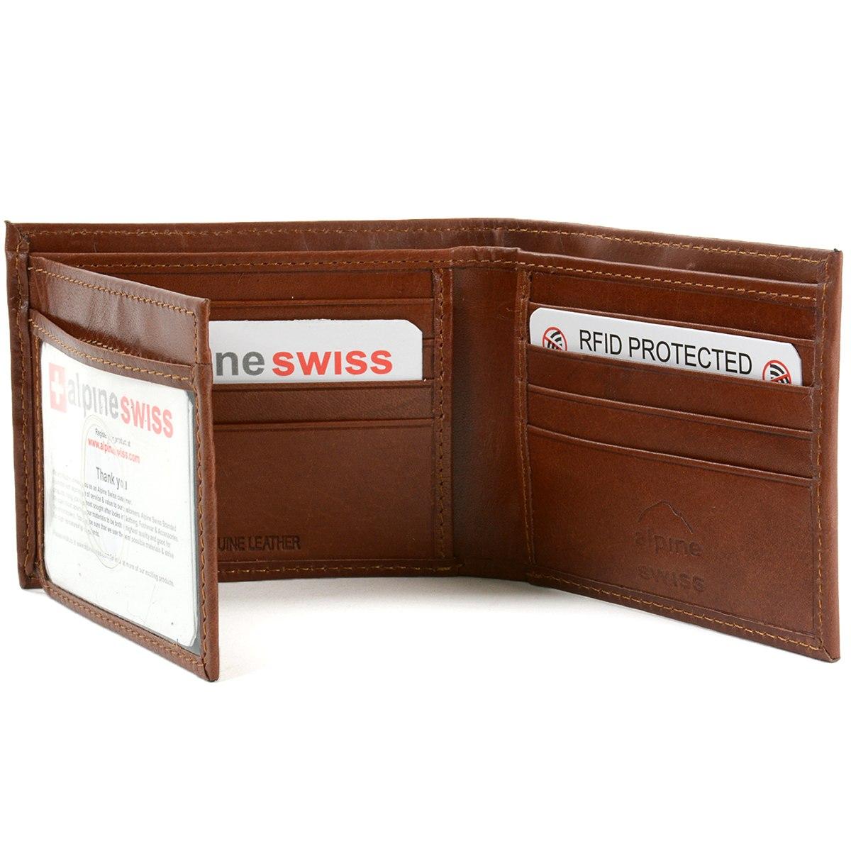 de628f6eb billetera para hombre alpine swiss de cuero plegable con 3. Cargando zoom.