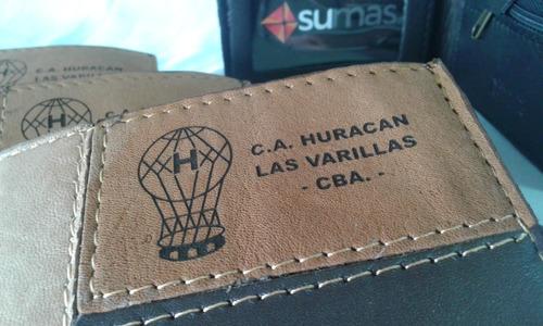 billetera personalizada logo marca evento grabado laser