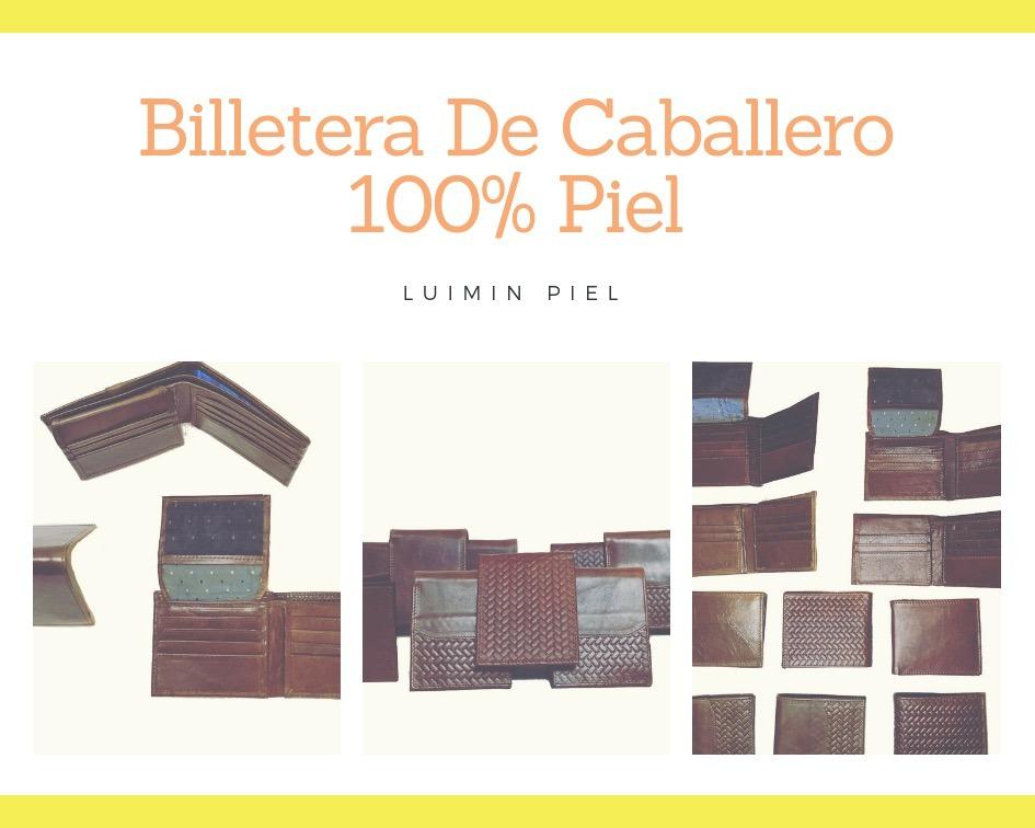 Billetera Piel Cuero Cartera Hombre Envío Gratis León Gto - $ 199.00 ...
