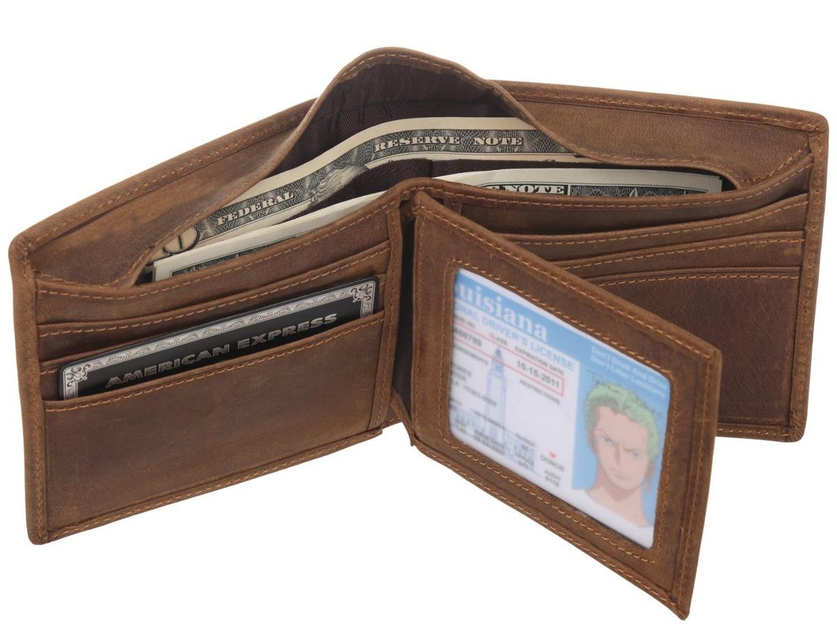 eb2779b05 billetera plegable de cuero de grano completo para hombres . Cargando zoom.