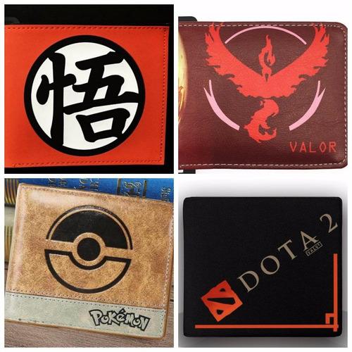 billetera pokemon go - dc marvel - dota2 - wow - mario bross