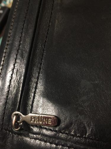 billetera prune cuero negro