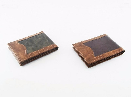 billetera simil cuero de hombre