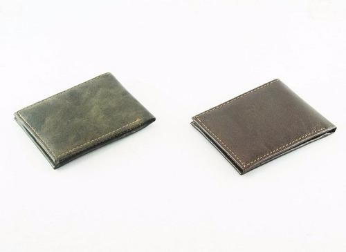 billetera simil cuero de hombre x 12 unidades
