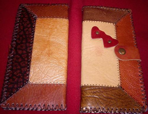 billetera tarjetas de mujer de cuero, diferentes modelos