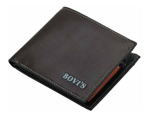billetera tarjetero  carteras para caballero piel sintética